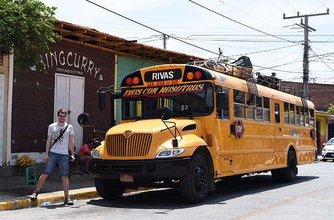 Autobús de San Juan del Sur a Rivas (Nicaragua)