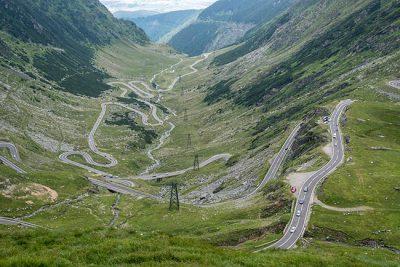 Vistas desde lo alto de la carretera Transfagarasan (Rumanía)