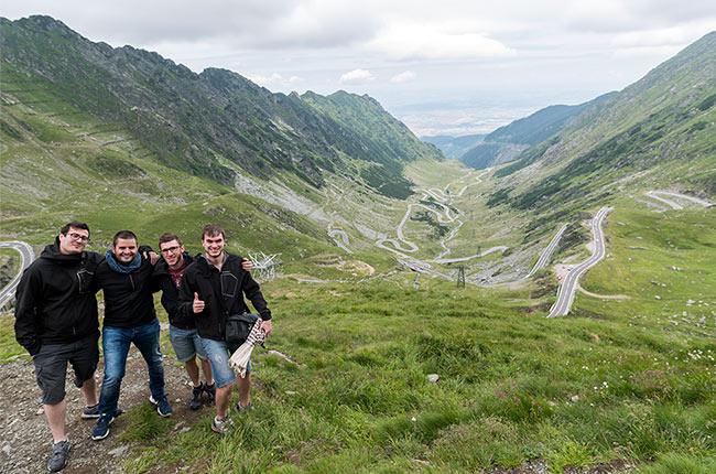 En lo alto de la carretera Transfagarasan (Rumanía)