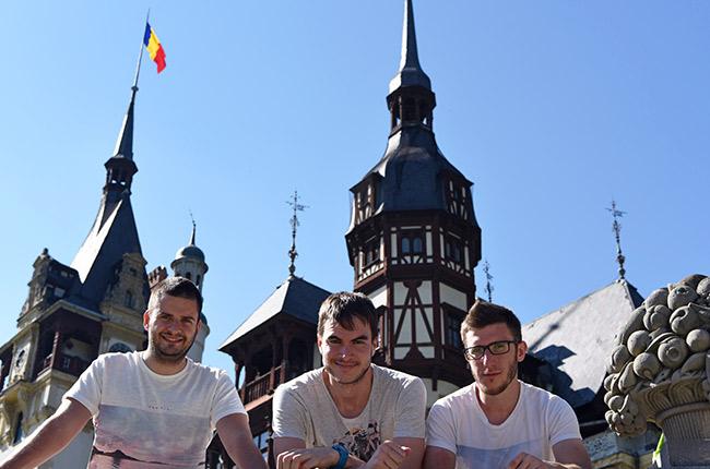 En el castillo de Peles (Rumanía)
