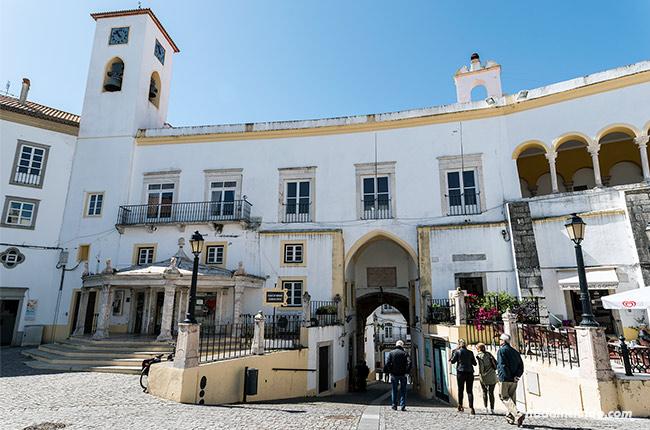 Plaza de la república de Elvas (Alentejo, Portugal)