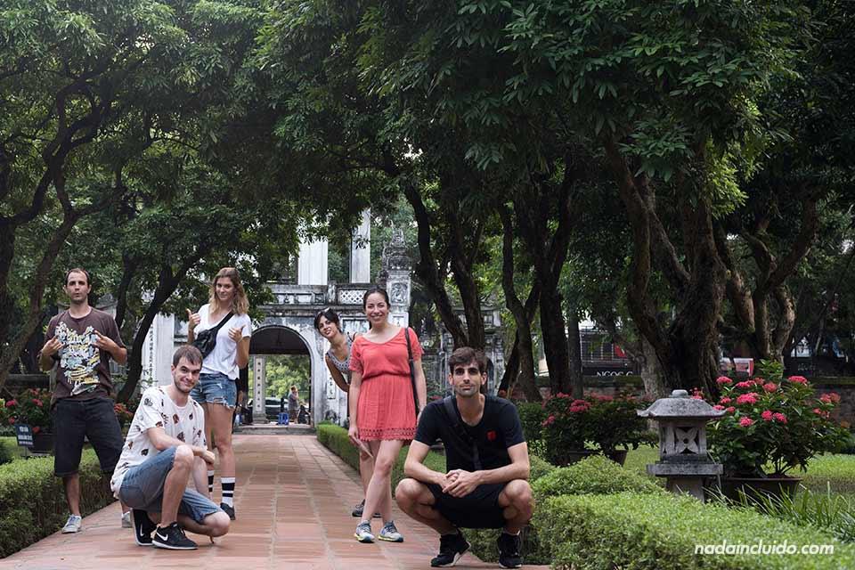 En el templo de la Literatura de Hanoi (Vietnam)