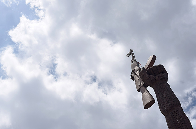 Estatua de un obrero luchador en Managua (Nicaragua)