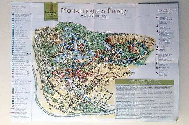 Plano del Monasterio de Piedra (Aragón, España)