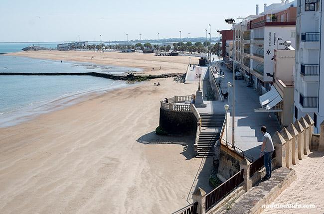 Vistas desde el castillo de Chipiona (Cádiz)