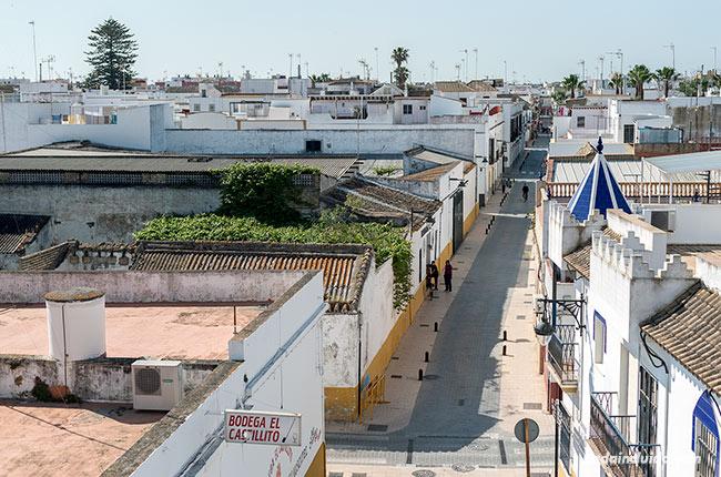 Vistas de Chipiona desde lo alto del castillo (Cádiz)