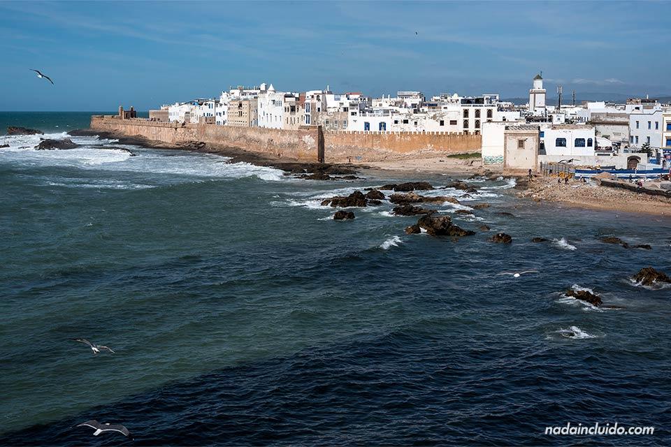 Vista de Essaouira desde la torre del castillo (Marruecos)