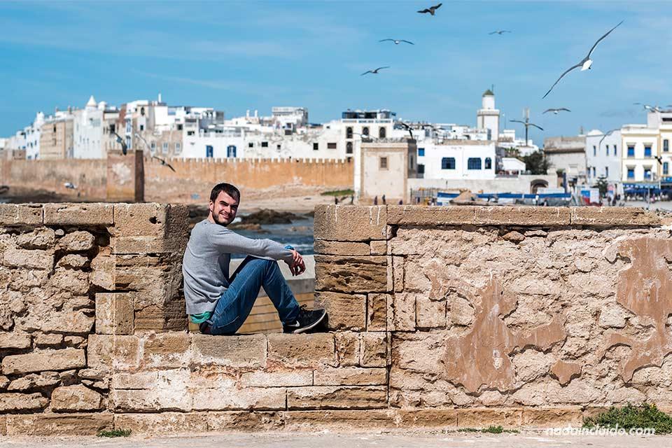 En el castillo de Essaouira (Marruecos)