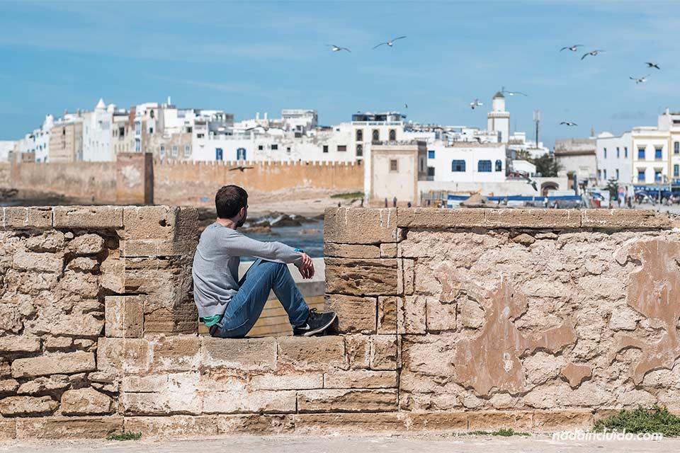 Viendo la medina desde el castillo de Essaouira (Marruecos)
