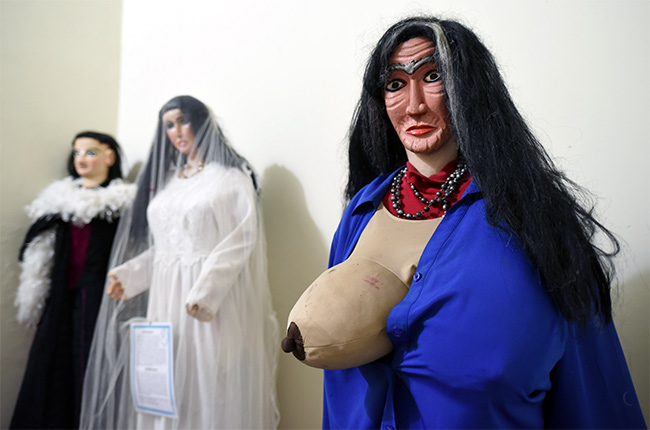 Mujer de Toma Tu Teta en el Museo de Tradiciones y Leyendas de León (Nicaragua)