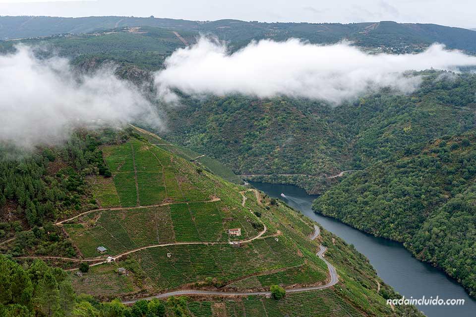 Vistas del río Sil desde el mirador Pena do Castelo, Ribeira Sacra (Galicia)