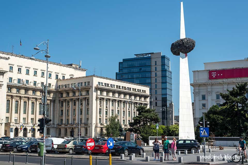 Monumento al Renacer (Memorialul Renasterii) en Bucarest (Rumanía)