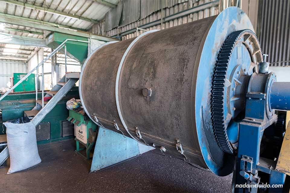 Máquina de producción en la hacienda Elida Estate Coffee, Boquete (Panamá)