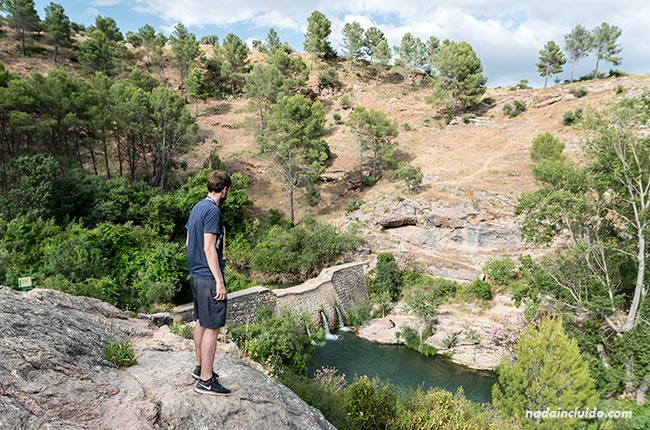 Viendo la presa de El Burgo (Málaga)