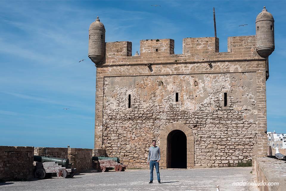 En la torre del castillo de Essaouira (Marruecos)