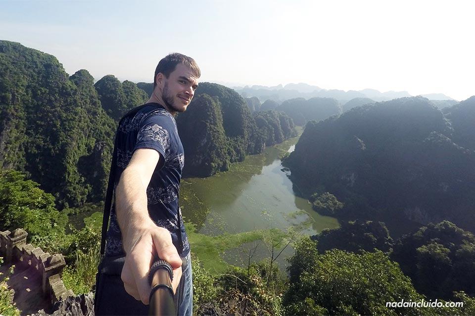 Vista de Ninh Binh desde la cima de Mua Caves, Vietnam