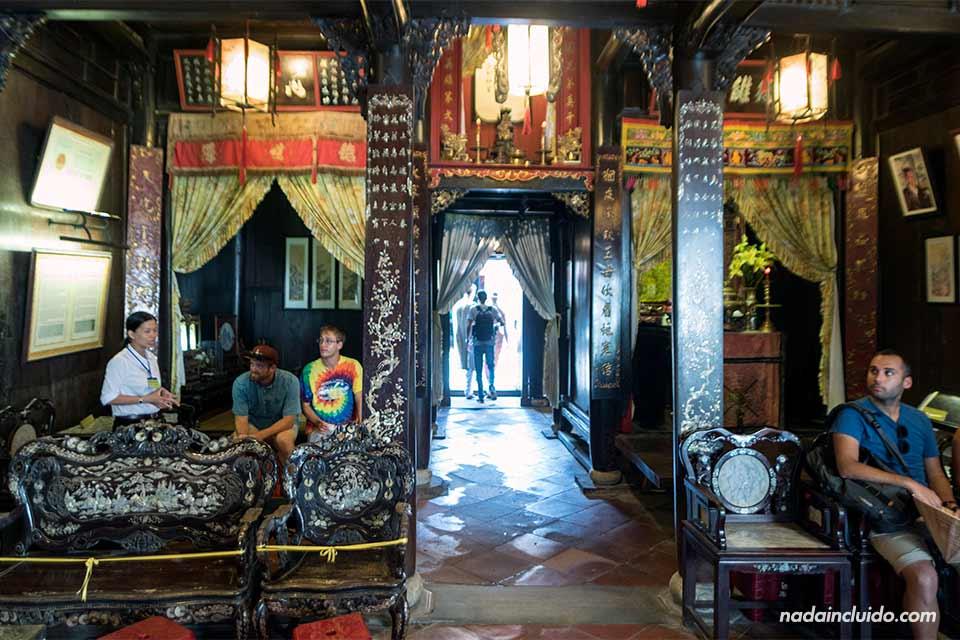 Interior de la Casa Tan Ky en Hoi An (Vietnam)