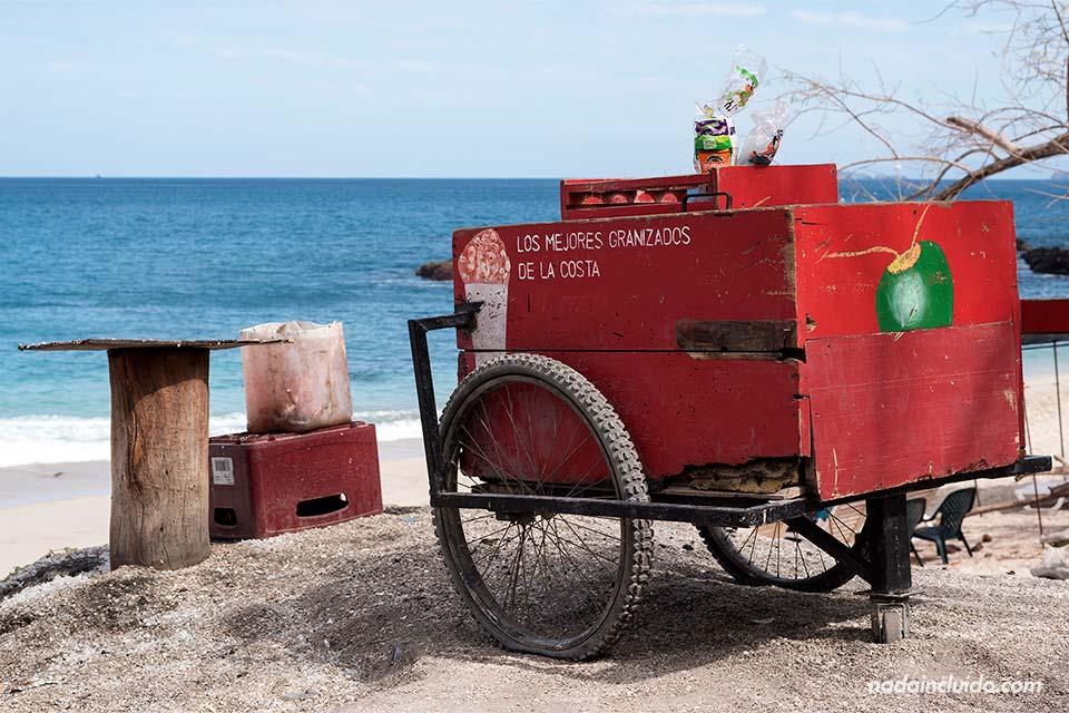 Carro de helados en Playa Brasilito (Costa Rica)