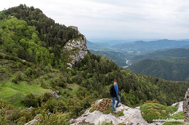 Vista de la región desde la ruta de las ermitas de Tella (Sobrarbe, Aragón)