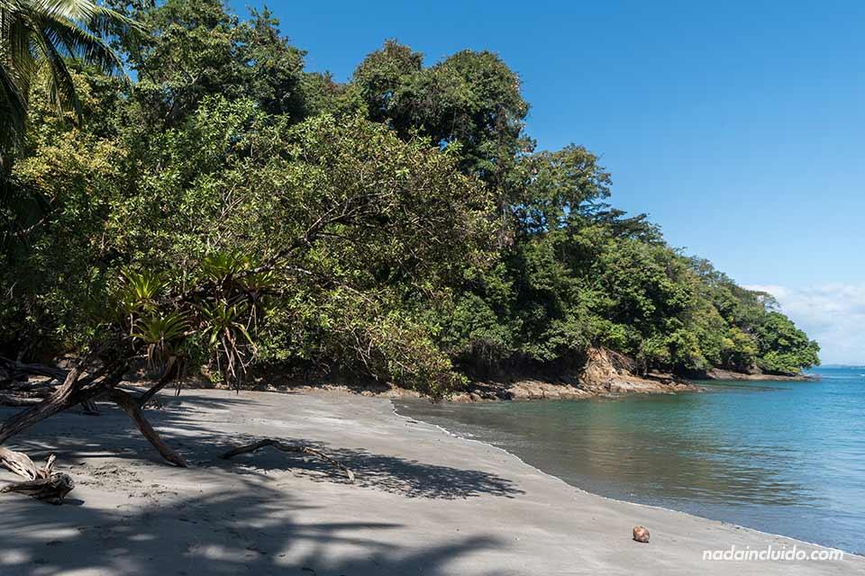 Playa de isla Paridas, golfo de Chiriquí (Panamá)