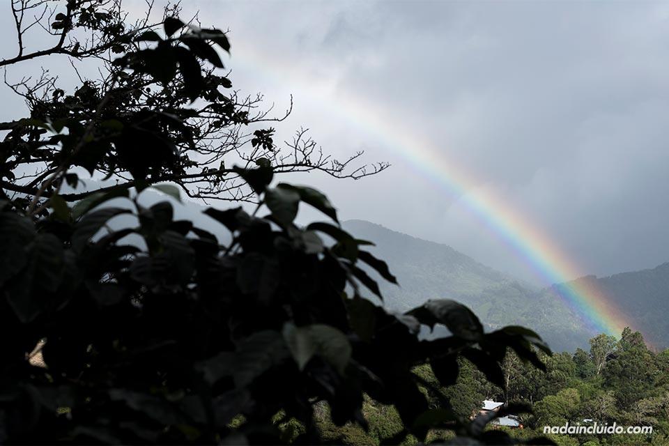 Vista del arcoíris en Elida Estate Coffee (Boquete, Panamá)