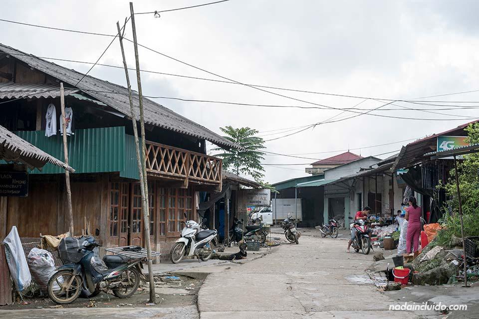 Calles de la aldea de Lao Chai en la región de Sapa, Vietnam