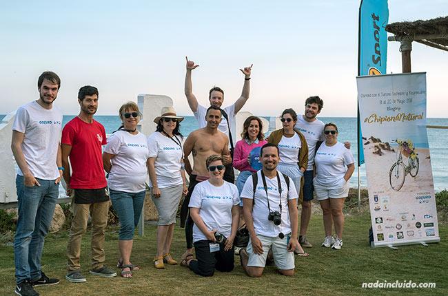 Blogueros en el centro Venturi de Chipiona (Cádiz)
