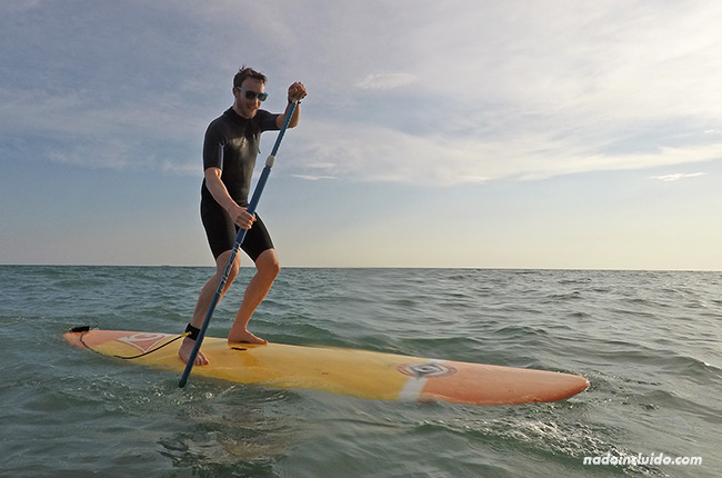 Paddle surf junto al centro Venturi de Chipiona (Cádiz)