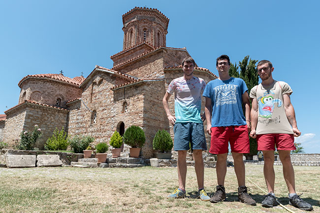En el monasterio de San Naum, junto al Lago Ohrid (Macedonia)