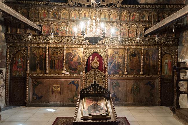 Interior del Monasterio de San Naum (Macedonia)