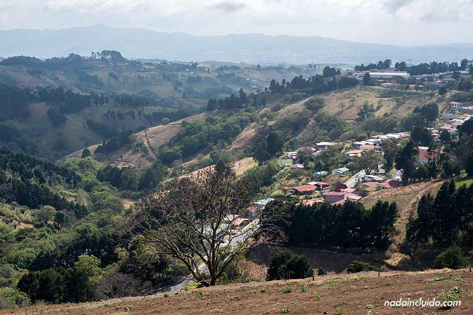 Vista aérea de Zarcero (Costa Rica)