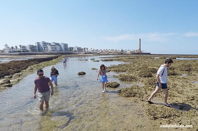 Blogueros en los corrales de Chipiona (Cádiz)