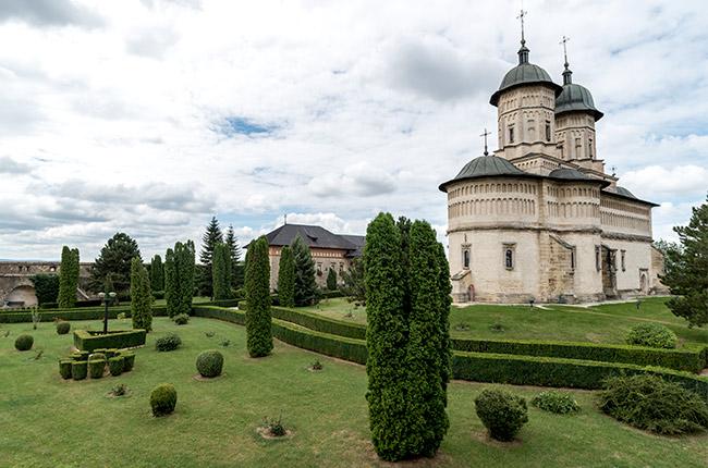Jardines del Manastirea Cetatuia (Monasterio Ciudadela) de Iasi (Rumanía)