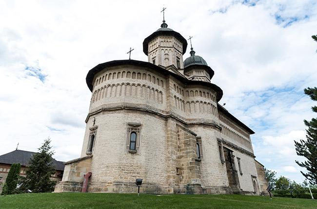 Fachada del Manastirea Cetatuia (Monasterio Ciudadela) en Iasi (Rumanía)