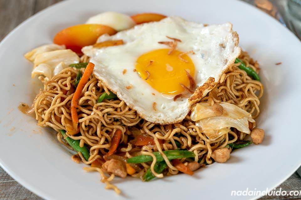 El Mie Goreng es un plato típico de comida indonesia