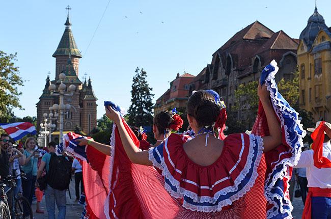 Grupo de Costa Rica en el festival internacional de Timisoara (Rumanía)