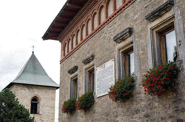 Edificio contiguo al Manastirea Cetatuia (Monasterio Ciudadela) de Iasi (Rumanía)