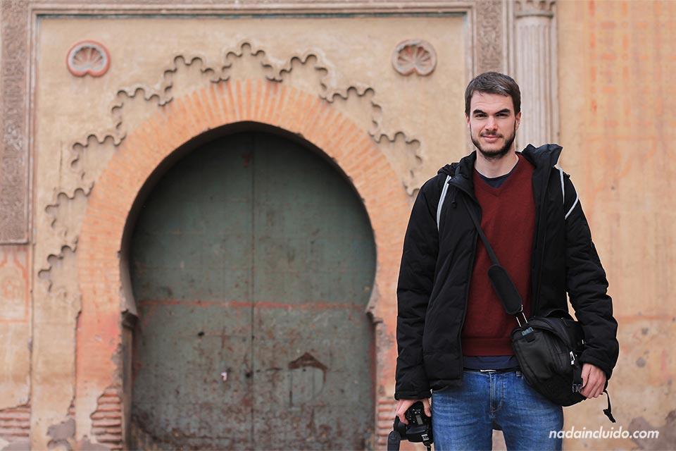 En una puerta del Mellah (barrio judío) de Marrakech (Marruecos)