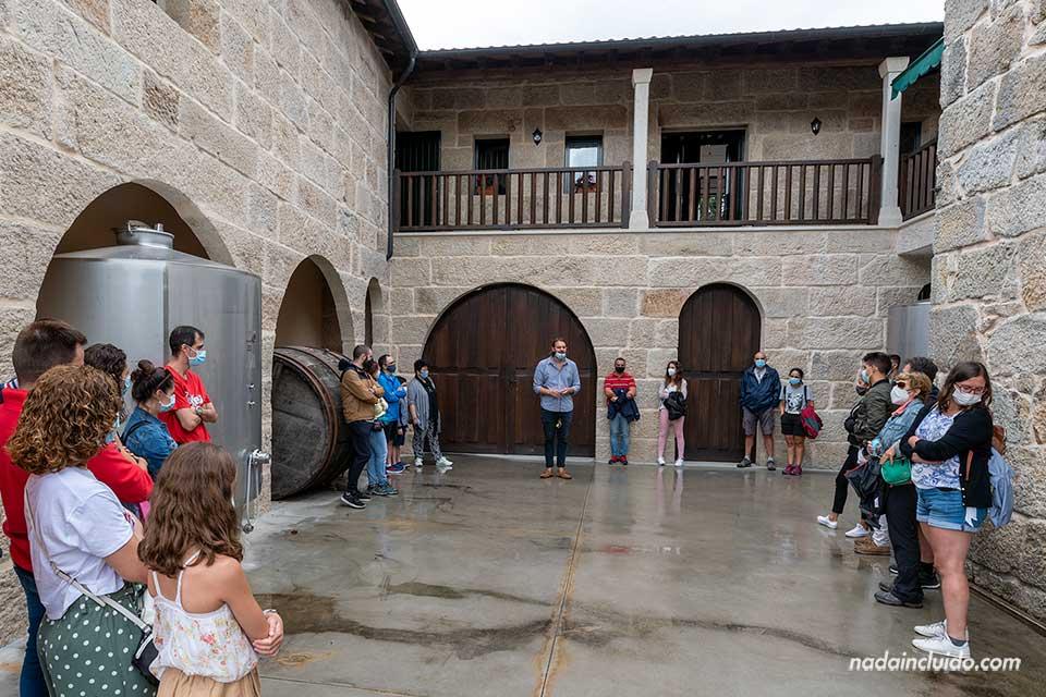 Recibimiento en la bodega Algueira de Ribeira Sacra (Galicia)