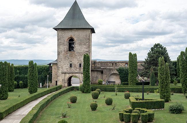 Puerta de entrada al Manastirea Cetatuia (Monasterio Ciudadela) de Iasi (Rumanía)