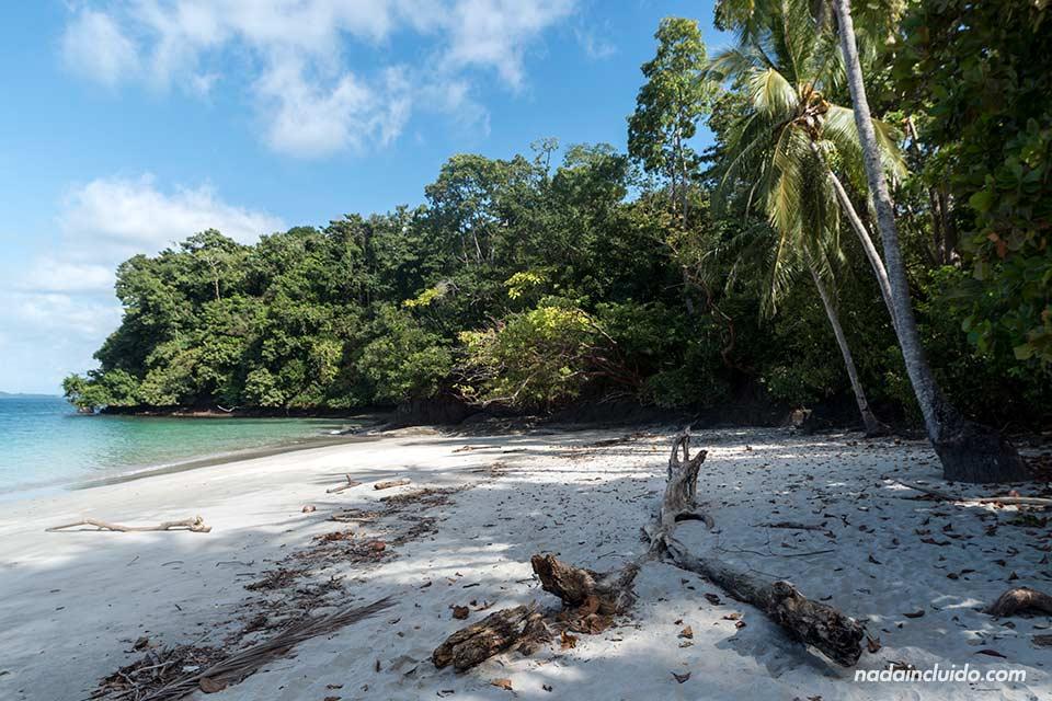 Playa de isla Gámez, en el parque nacional marino golfo de Chiriquí (Panamá)