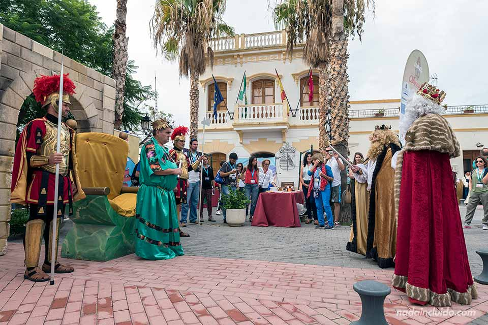 Representación de Los Reyes Magos en Los Gallardos (Almería)