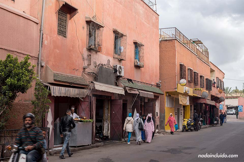 Calles del barrio judío de Marrakech (Marruecos)