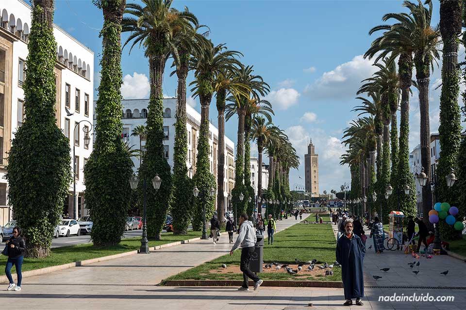 Avenida Mohammed V en Rabat (Marruecos)