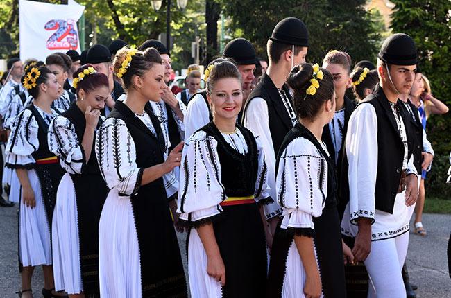 Grupo de danza de Sibiu en Timisoara (Rumanía)