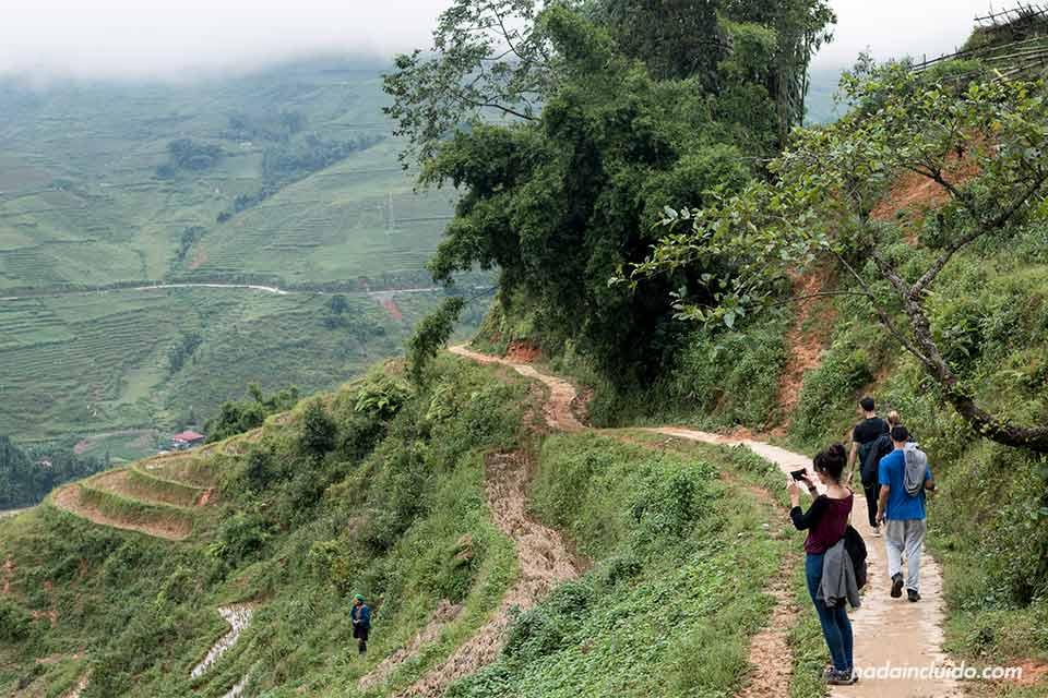 Haciendo una ruta senderista por Sapa, Vietnam