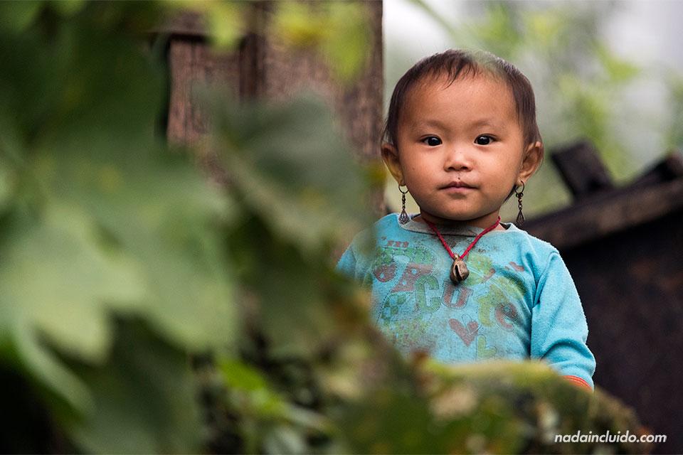 Niña vietnamita en una aldea en la región de Sapa (Vietnam)