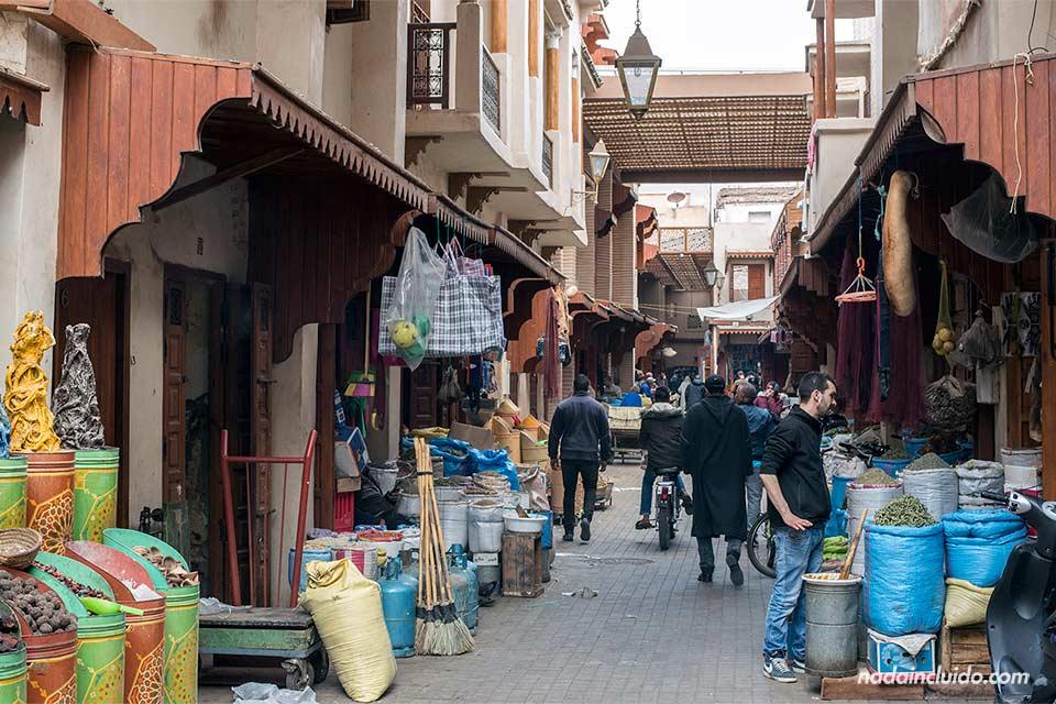 Zoco del Mellah (barrio judío) de Marrakech (Marruecos)