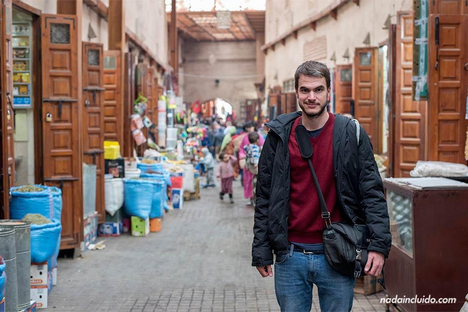 En el zoco del Mellah (barrio judío) de Marrakech (Marruecos)