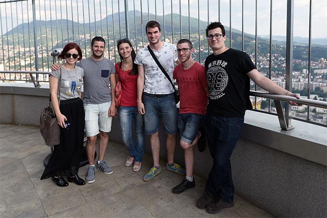 En la terraza de la Avast Twist Tower, Sarajevo (Bosnia)
